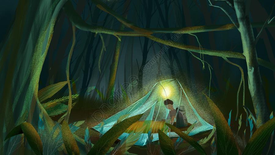 Lost Jungle Holiday Travel Adventure Illustration, Original, Business Illustration, Holiday llustration image