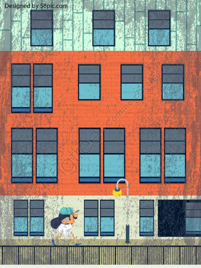 오리지널 에피소드, 오리지널 에피소드, 도시, 도시 풍경 llustration image
