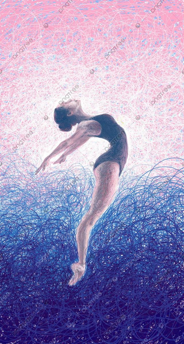 オリジナルの小さな新鮮なイラストバレエダンサー, 元の, 小さい新鮮な, イラストレーターバレエダンサー llustration image