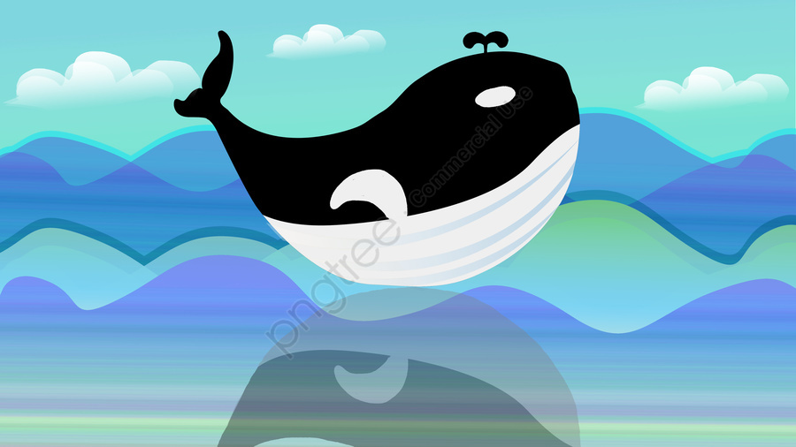 Sea and whale illustration, Whale, Sea, Healing llustration image