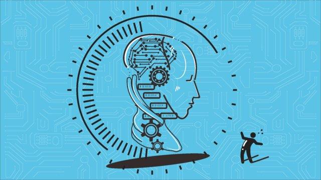 कृत्रिम बुद्धि चित्रण छवि चित्रण छवि