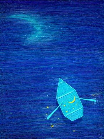 नीले सुंदर मूल कुंडल छाप चित्रण इलाज पोस्टर चित्रण छवि