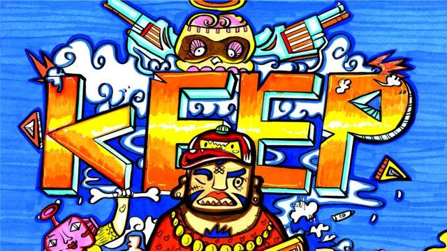Creative doodle color cartoon hip hop trend front line illustration, Boy, Trend, Fashion illustration image