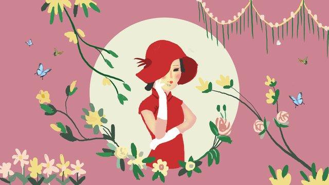 Cheongsam woman classical female illustration, Cheongsam, Female, Republic Of China illustration image