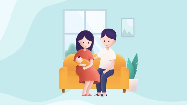 child and parents warm family reunion baby illustration llustration image