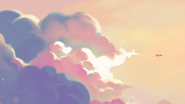 big flower cloud romantic mood beautiful starry sky small illustration with map llustration image