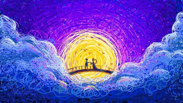 コイル塗装、七夕橋、イラスト イラスト素材 イラスト画像