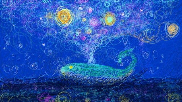 コイルスター鯨オリジナルイラスト イラスト素材