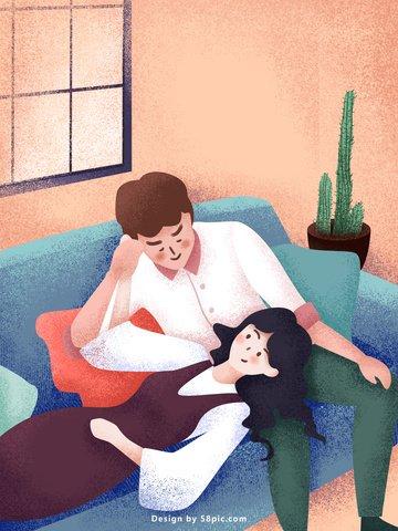 ウォームキュアカップル毎日オリジナルイラストポスター イラスト素材