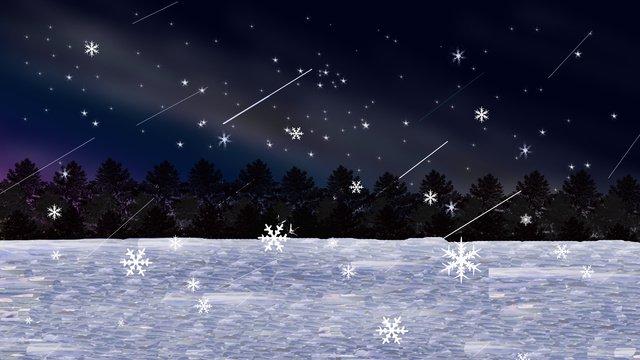 広大な海の星の夜の図 イラスト素材 イラスト画像