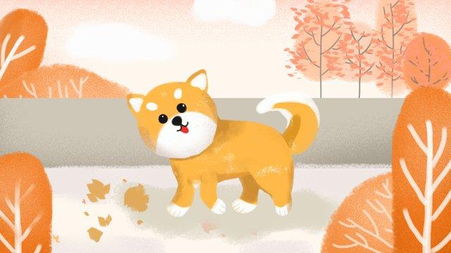 Собака щенок домашнее животное маленькая свежая иллюстрация Ресурсы иллюстрации Иллюстрация изображения