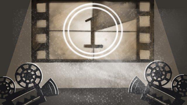 sản phẩm trong nước máy đếm thời gian chiếu phim   bóng phản chiếu những hình vẽ minh họa cho Hình minh họa Hình minh họa