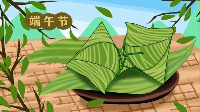 原創插畫端午節的粽子端午節  粽子節  桌子PNG和PSD圖片素材 illustration image