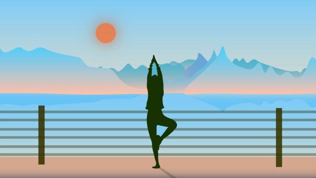 Национальная фитнес девушка йога иллюстрация Ресурсы иллюстрации