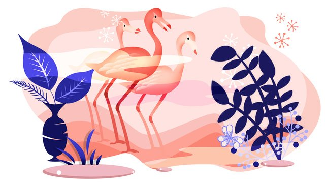 Série de fantasia animal rosa flamingo decoração ilustraçãoFlamingo  O  Verão PNG E PSD illustration image