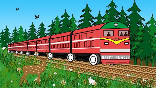train forest green Hình minh họa Hình minh họa