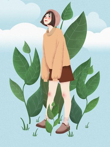 fresh cute girl original illustration illustration image