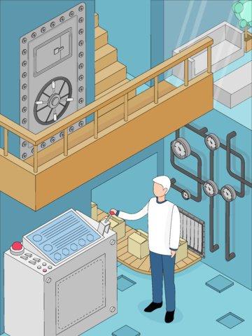 przyszłościowej technologii 2 5d wektorowa ilustracja isometric osi bocznego widoku przemysłowy styl obraz llustration obraz ilustracja
