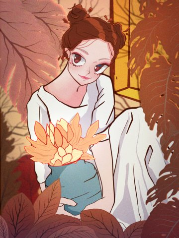 good morning beautiful cure at home autumn illustration llustration image