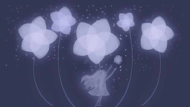 おやすみ、静かな花 イラスト素材 イラスト画像