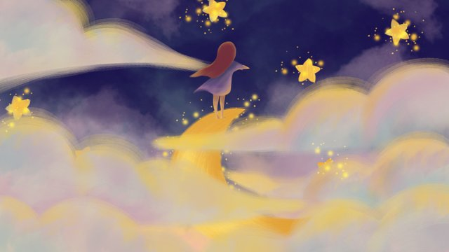 Beautiful starry night good, Good Night, Hello There, Mobile Phone With Picture illustration image