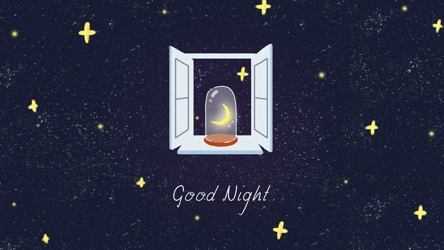 Good night hello star moonlight window starry sky, Good Night, Hello There, Mobile Phone With Picture illustration image
