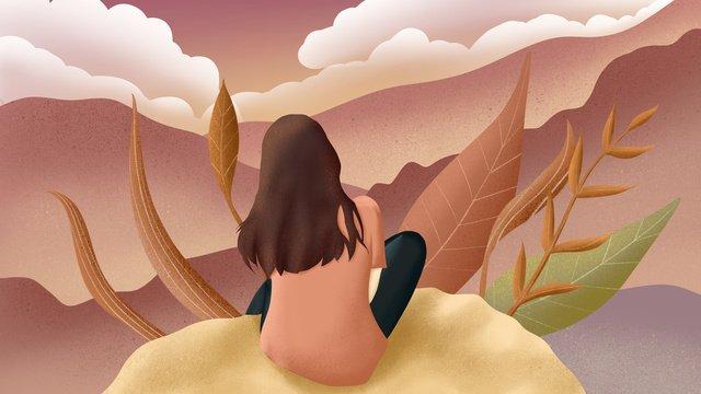 chúc ngủ ngon  anh ngồi nhìn ra xa xa phía sau vẽ minh họa cho cô gái tóc dài Hình minh họa