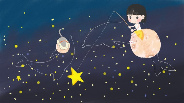 Midsummer nights dream good night starry sky, Good Night, Hello There, Starry Sky illustration image