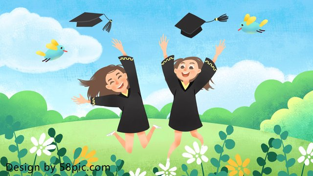 mùa tốt nghiệp chúng tôi nhỏ minh họa ban đầu vẽ tay Hình minh họa Hình minh họa