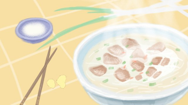 Too big to drink mutton soup llustration image illustration image