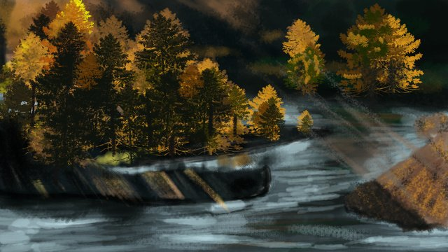秋の山々 イラスト素材