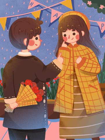 hello february valentines day send flowers to your girlfriend boy couple daily holiday llustration image illustration image