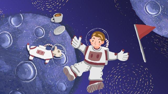 人間の月の日のポスター イラスト素材 イラスト画像