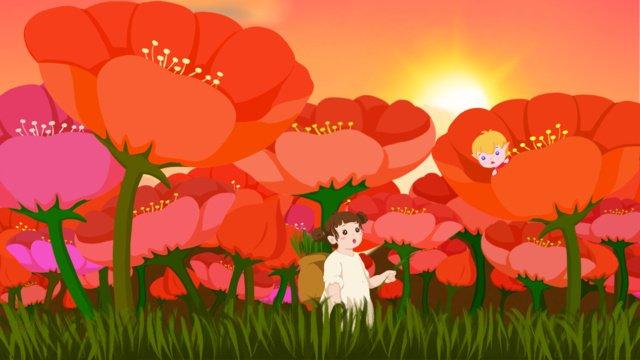 tanabata vương quốc phản diện hoa biển xanh mận ngựa tre từ cái nhìn đầu tiên yêu hai nhỏ không đoán được Hình minh họa