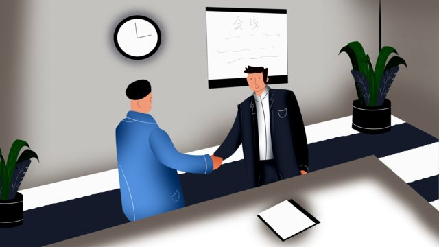 Conference room business negotiation, Meeting Room, Business, Cooperation illustration image
