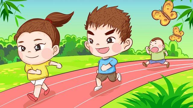 Национальный день фитнеса run marathon fitness Ручная роспись Оригинальная иллюстрация Ресурсы иллюстрации Иллюстрация изображения