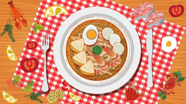 gourmet   noodle delicious food western noodles llustration image illustration image