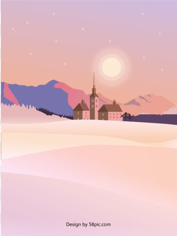 Original beautiful scene romantic pink purple landscape gradient illustration, Original, Beautiful, Romantic illustration image