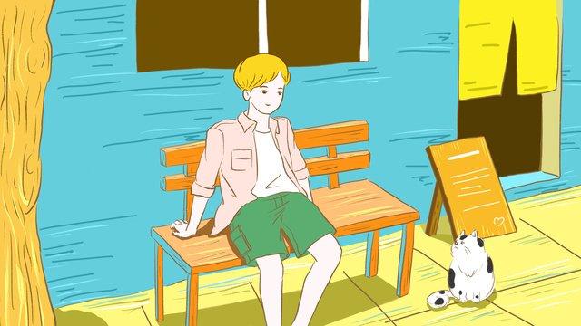 original bằng tay vẽ minh họa cho tươi mát vào mùa hè Hình minh họa