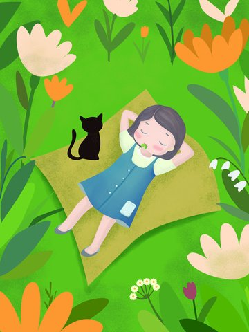 original illustration girl in the flowers llustration image illustration image