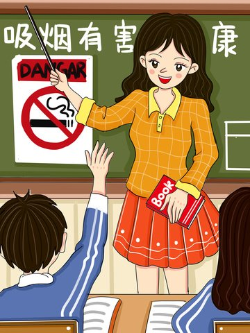 ilustração de desenhos animados classe saúde prejudiciais fumar original Imagens de ilustração
