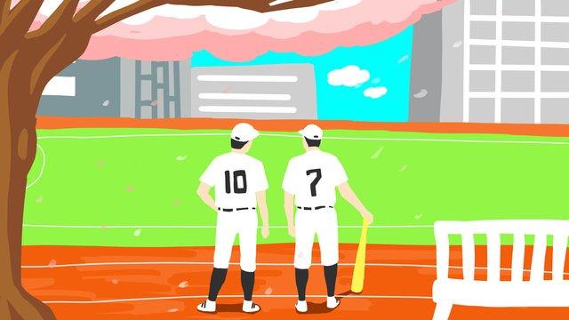 Thể thao bóng chày mùa hè nguyên bảnBản  Gốc  Mùa PNG Và PSD illustration image