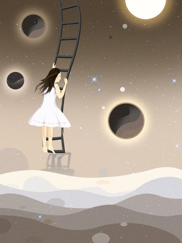 Star girl Dream image d'illustration