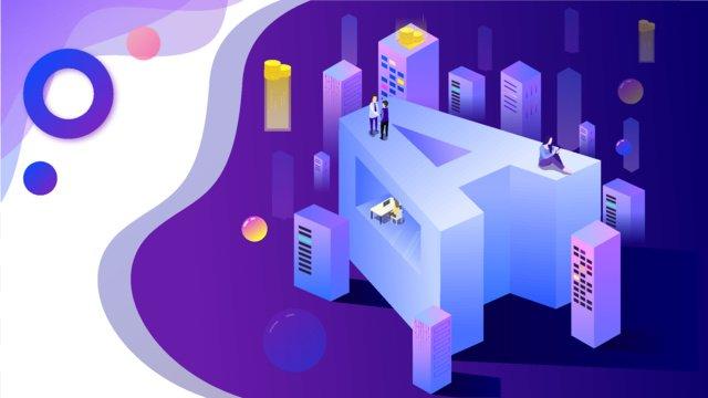 real estate financial blockchain technology sense letter a2 5d flat llustration image illustration image