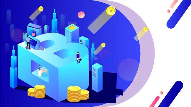 real estate finance big data blockchain technology sense letter b llustration image illustration image