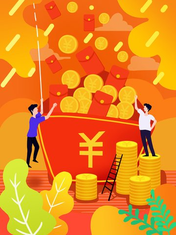 लाल द्रव ढाल वित्तीय लिफाफा चित्रण चित्रण छवि