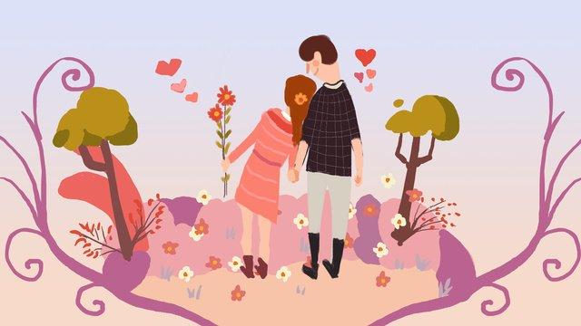 Romantic chinese valentines day illustration llustration image