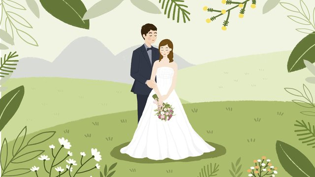 Silver green valentines day fresh couple plant flower llustration image
