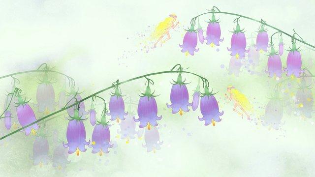 Đơn giản và nhỏ lily tươi của thung lũng hoa elf hình nền minh họaNhỏ  Tươi  Lily PNG Và PSD illustration image