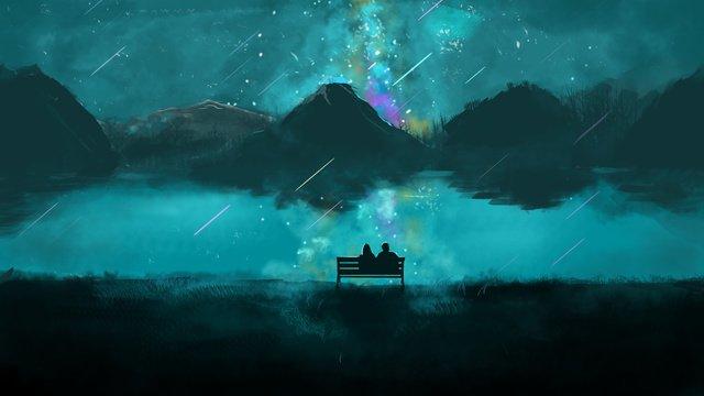 ภาพประกอบต้นฉบับของ starry story ภาพ